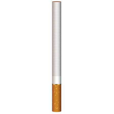 abandon: Realistic cigarette standing, vector