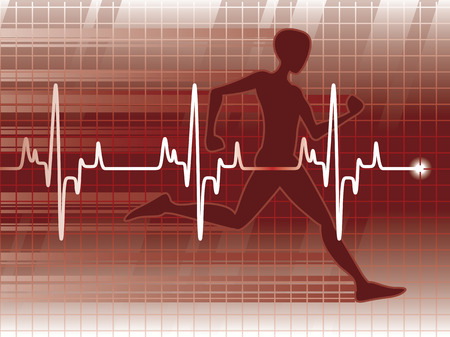 A cardiogram and a physical fitness exam Stock Photo - 1481662
