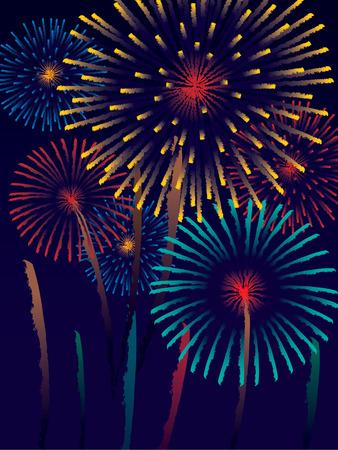 Carnival fireworks in the sky photo