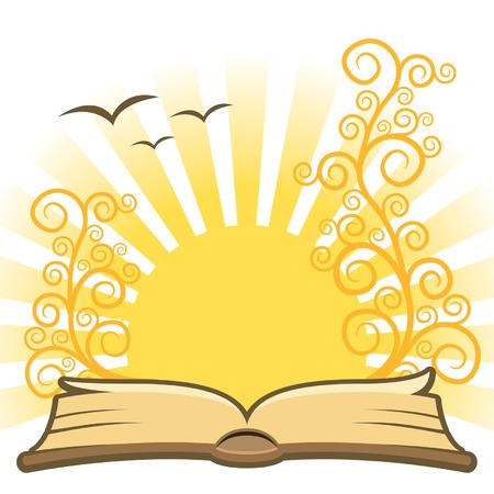 hymnal: Magic libro con sole, il vettore