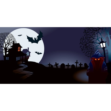 old houses: Halloween night, perfect illustration for Halloween holiday Illustration
