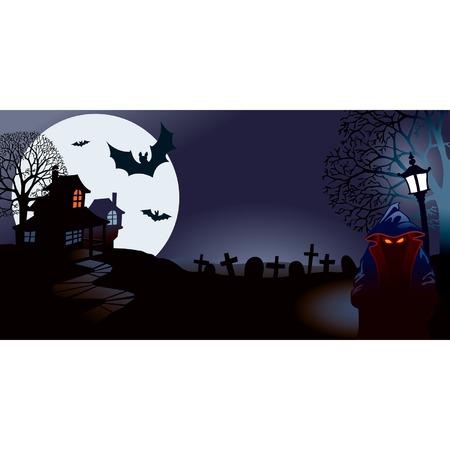 przerażający: Halloween noc Halloween doskonałą ilustracją do wakacji Ilustracja