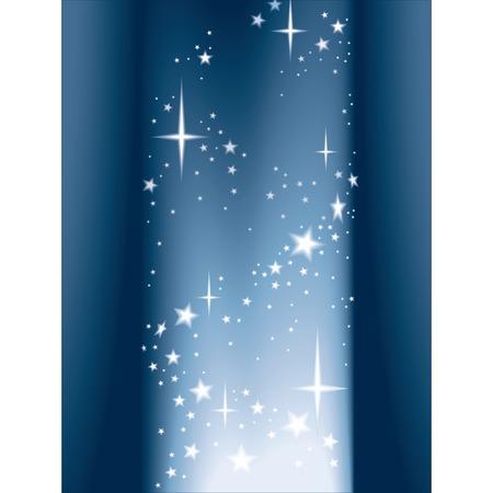 Column of light and shining stars, vector Illustration