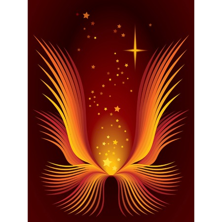 Abstract magic flower and shining stars