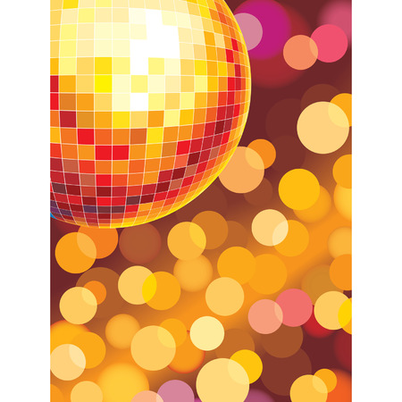 Party background with glowing lights, vector