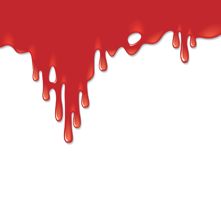 frightening: Blood on a white background
