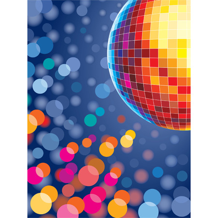 Disco background with glowing lights Vector