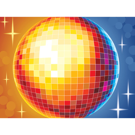Party disco background with glowing lights, vector