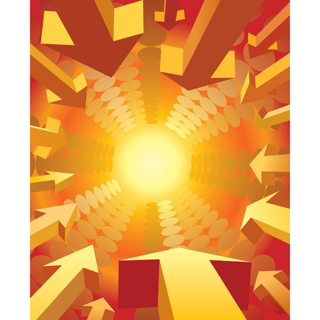Vector illustration of arrows flying to the light Stock Vector - 2481196