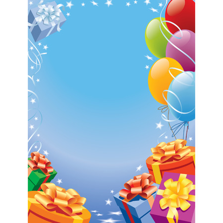 Decoration ready for birthday and party, vector Illustration