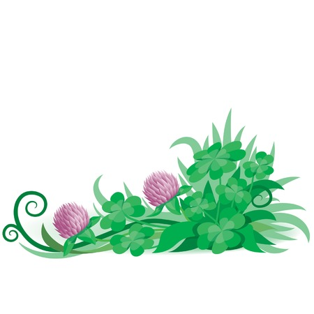 Clover ornament 4, vector Stock Vector - 2591185