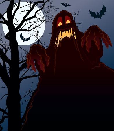 Demonic night, perfect illustration for Halloween holiday