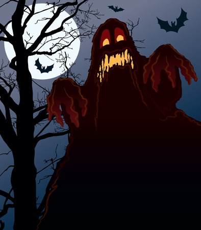 przerażający: Demonic noc Halloween doskonałą ilustracją do wakacji