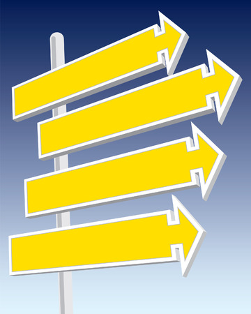 Direction signs good for message and price. Vector