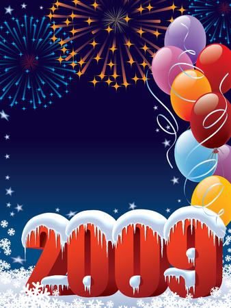 Año Nuevo listo para la decoración de carteles y tarjetas Foto de archivo - 3794340