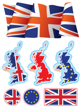Collection of British national design elements, vector. Stock Vector - 4154234