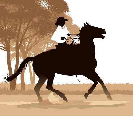 Girl and her horse on a trail ride  photo