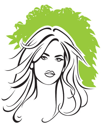 Portrait of young sexy woman with blond hair  Stock Vector - 5330217