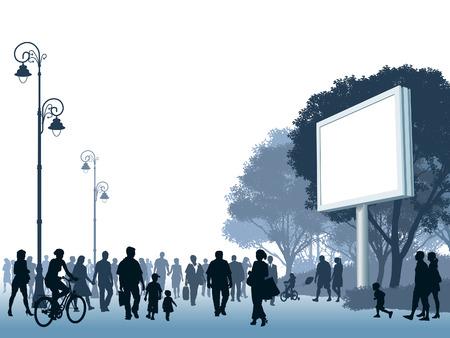 parejas caminando: Multitud de personas caminando en una calle.