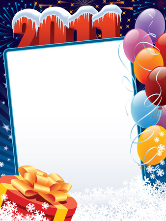 New Year 2011 decoration ready for posters and cards Vector