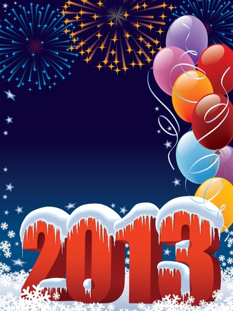 New Year 2013 decoration with copy space for your message Illustration