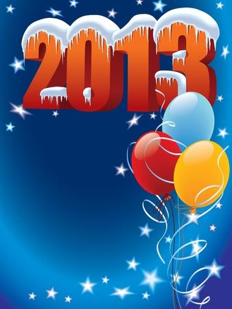 New Year Dekoration bereit für Plakate und Karten Illustration