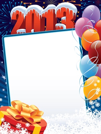 New Year decoration ready for your message Vector