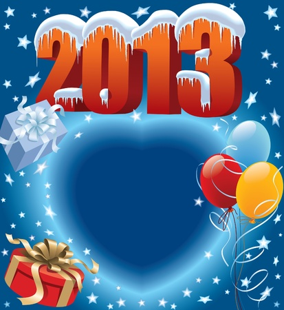 New Year decoration ready for posters and cards Stock Vector - 15932111