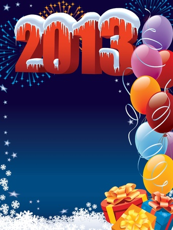 New Year 2013 decoration with copy space for your message Vector