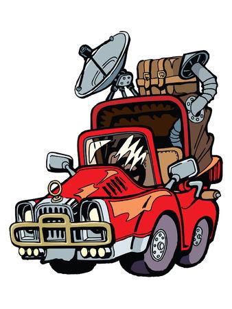 reiziger: Klaar voor een zomer vakantie reiziger auto.