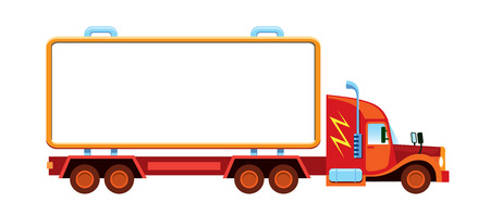 Large lorry with blank container ready for custom text  Vector