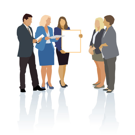 young businessman: Group of people in the typical business situation Illustration