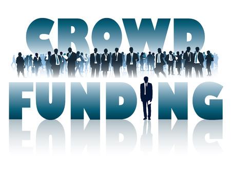 multitud de gente: Multitud de empresarios y grandes palabras - crowdfunding.