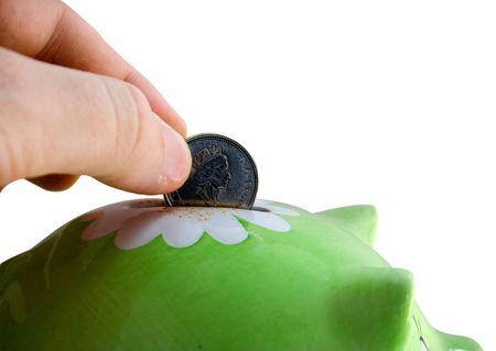canadian cash: Small piggy bank (moneybox)