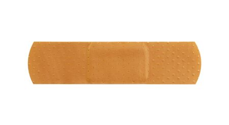 Macro of a plain skin toned bandage, on a white background Stock Photo - 352958