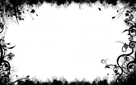 Summer frame on white background Stock Photo - 365990