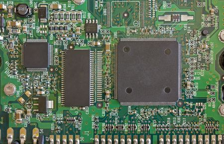 jacks: Computer Circuit Board taken from a hard disk.  Stock Photo
