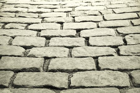 interstice: cobblestones background , Old port in Quebec Stock Photo