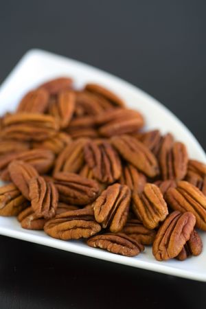 whole pecans: pecans whole in a contempory bowl