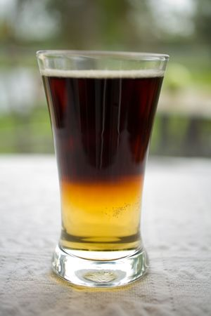 draft beer: Black and Tan Draft Beer