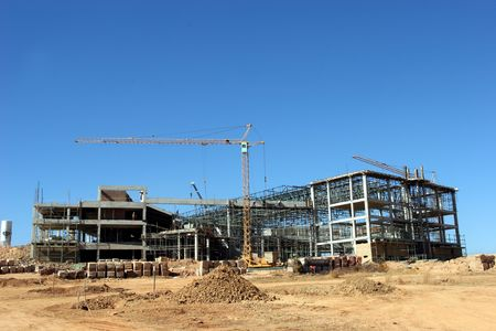 buildingsite: Construction of a building