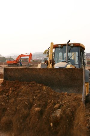 earth moving: Heavy earth moving equipment