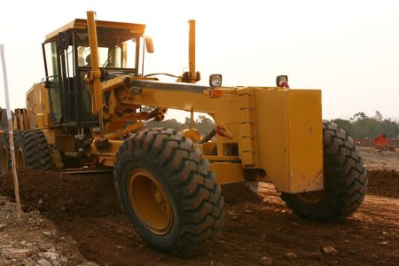 buildingsite: Grader Heavy earth moving equipment