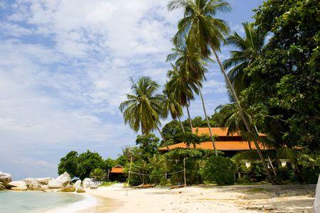lang: Resort Stock Photo