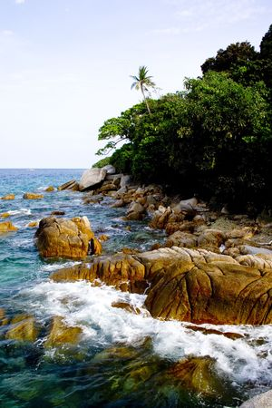 lang: Rocks Stock Photo