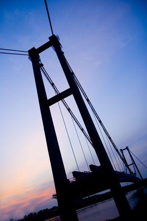 nightview: Nightview of a bridge in Putrajaya, Malaysia