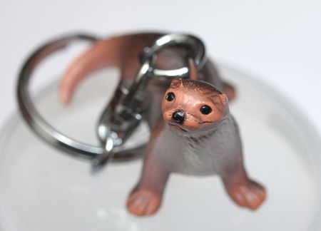 nouse: Charm in the form of a small animal - a knickknack Stock Photo