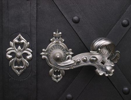 Elegant door handle. photo