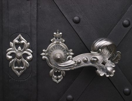 door knob: Elegant door handle. Stock Photo