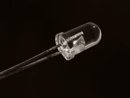 radiative: Pure LED on black background Stock Photo